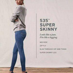 Levi's 535 Super Skinny Midrise Legging Jeans